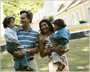 Fredrik Janson med familj